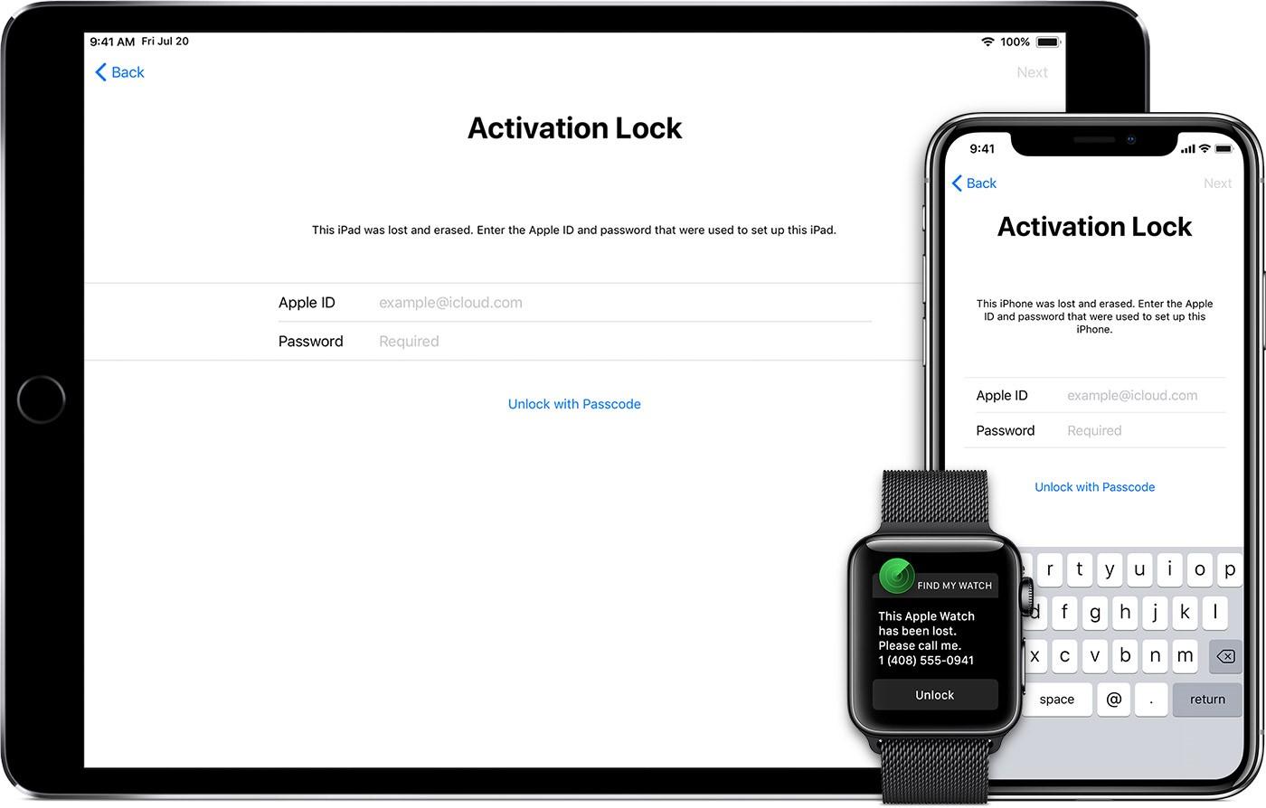Trạng thái iCloud ẩn nếu bạn quên mật khẩu hoặc máy bị báo mất