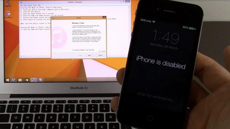 Sửa lỗi iPhone bị vô hiệu hóa do gõ sai mật khẩu nhiều lần