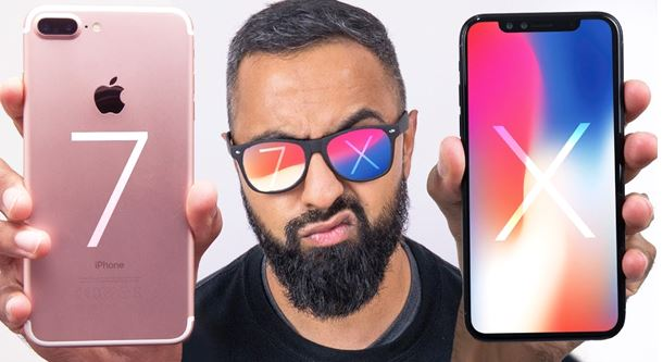 So sánh iPhone 7 Plus và iPhone X (1)