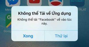 Điện thoại iPhone sẽ không tải được ứng dụng từ App Store