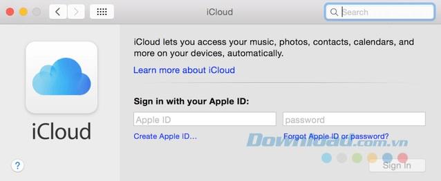 iCloud trên Macbook