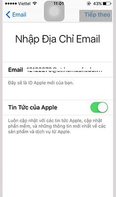 Hướng dẫn cách tạo Apple ID (3)