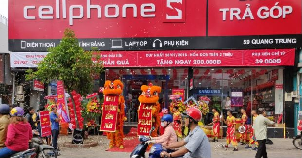 Cửa hàng CellphoneS khai trương nhiều chi nhánh tại Hà Nội và trên toàn quốc