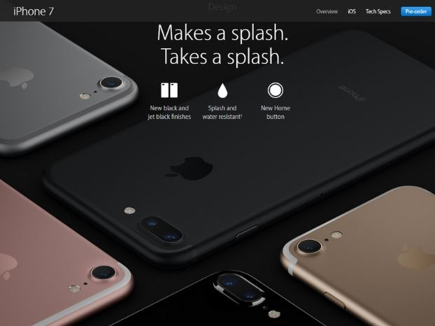 Bộ đôi iPhone 7 và iPhone 7 Plus có khả năng kháng nước