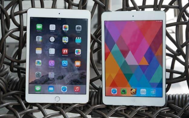 iPad Mini 2 và 3 ứng dụng công nghệ màn hình Retina