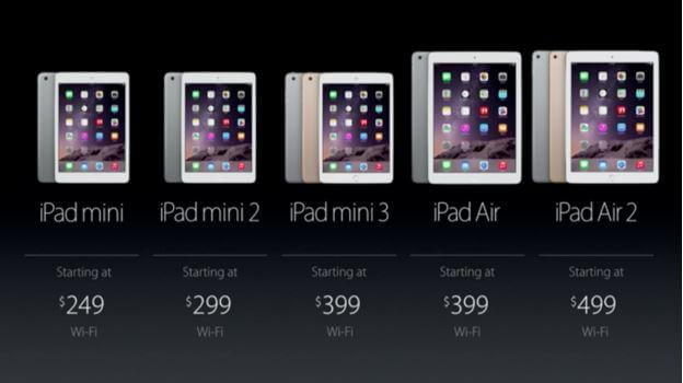 Apple đã chính thức cho ra mắt các phiên bản iPad Mini
