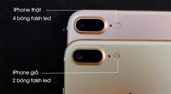 iPhone 7 Plus hàng thật sẽ có 4 bóng đèn LED ở phía sau