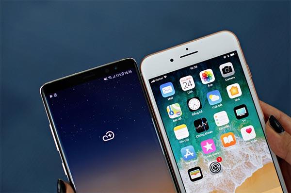 """iPhone 8 Plus và Galaxy Note 9 mang những đặc trưng thiết kế riêng không """"đụng hàng"""""""