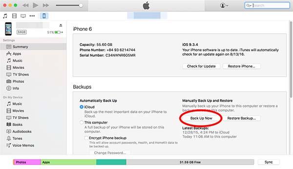 Sửa lỗi iPhone bị vô hiệu hoá bằng iTunes