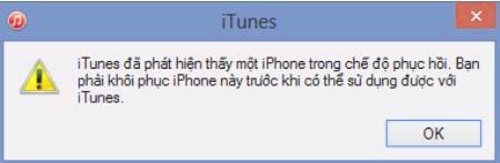 Sửa lỗi iPhone bị vô hiệu hoá