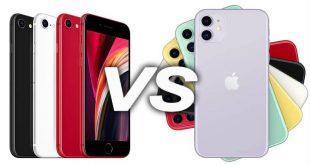 So sánh iPhone 11 và iPhone SE 2020