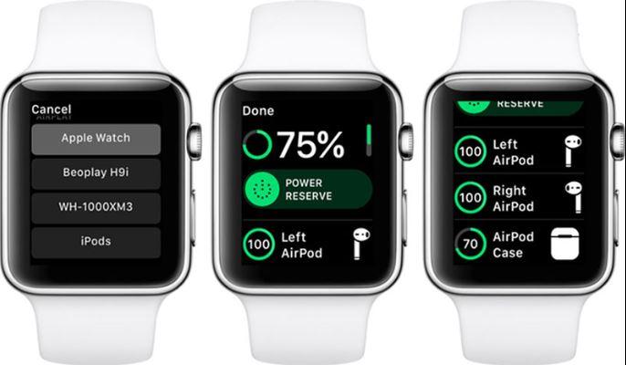 Kiểm tra thời lượng pin của AirPods từ Apple Watch