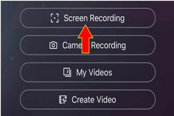 Chọn Screen Recording để bắt đầu quay video màn hình iPhone 11