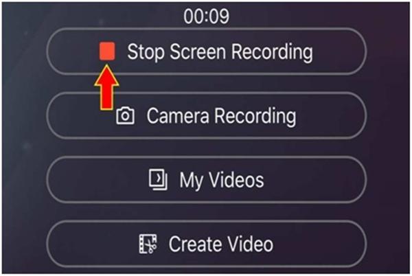Bấm Stop để dừng ghi màn hình iPhone 11