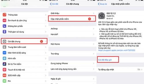Tải bản cập nhật phần mềm iOS 12 ổn định hơn về máy và cài đặt