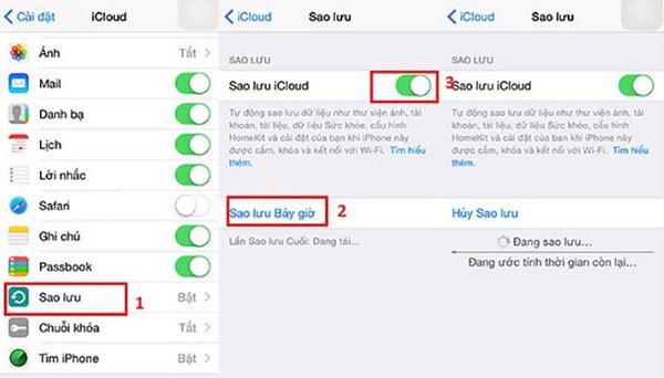 Thường xuyên sao lưu dữ liệu trên iPhone