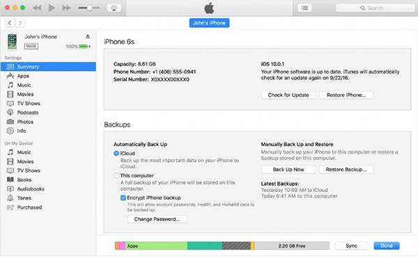 Chại lại phần mềm trên iPhone