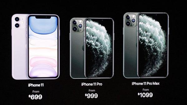 iPhone 11 Pro và 11 Pro Max cũng có giá bán khá chênh lệch