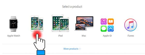 Chọn nhóm sản phẩm là iPhone để tiến hành kiểm tra.
