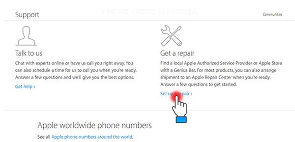Kiểm tra thông tin hỗ trợ từ Apple