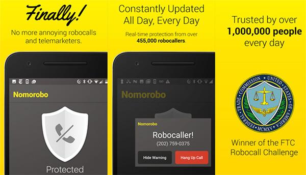 Phần mềm chặn cuộc gọi trên iPhone Nomorobo Robocall Blocking cho iPhone