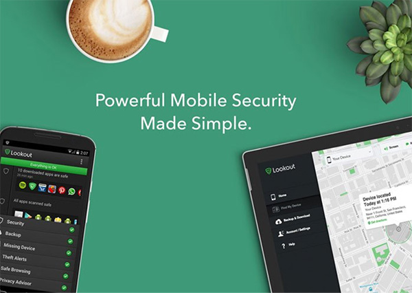 Phần mềm Lookout Mobile Security cho iPhone