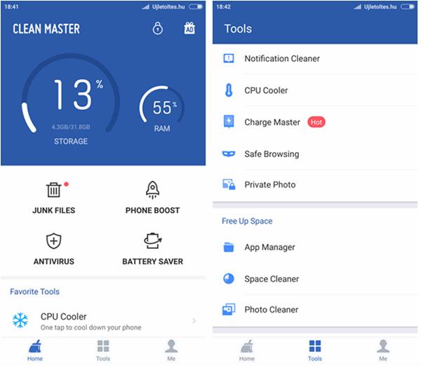 Phần mềm làm mát iPhone Cleaner Master