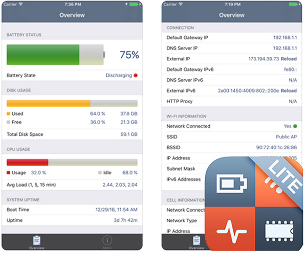 Phần mềm làm mát iPhone System Status