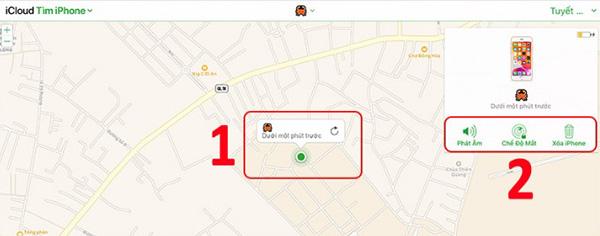 Định vị iPhone qua iCloud