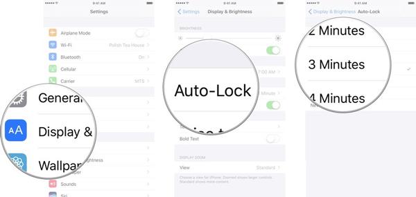 Cách chỉnh thời gian khóa màn hình iPhone