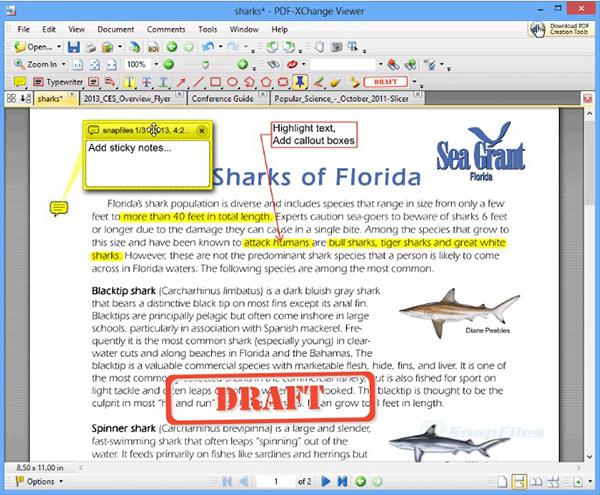 Phần mềm PDF-XChange Viewer hỗ trợ đọc mọi file định dạng PDF