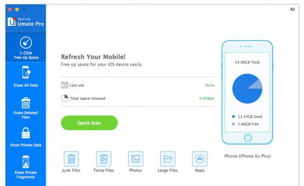 Phần mềm tăng tốc iPhone iMyfone Umate