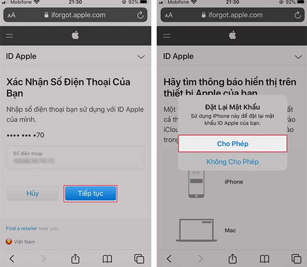 Khôi phục tài khoản iCloud trên iPhone
