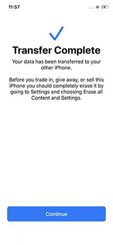 Chuyển dữ liệu từ iPhone sang iPhone bằng quét mã trên 2 điện thoại (2)