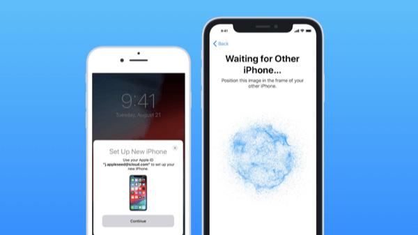 Chuyển dữ liệu từ iPhone sang iPhone bằng quét mã trên 2 điện thoại