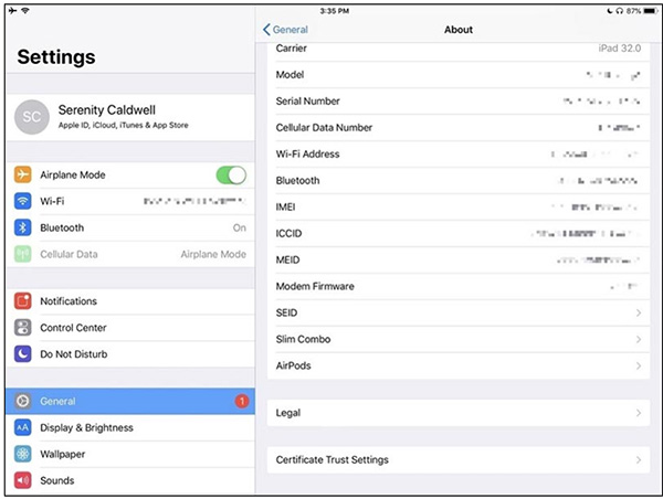 Kiểm tra mã IMEI và Serial Number để kiểm tra nguồn gốc xuất xứ và thời hạn bảo hành iPhone