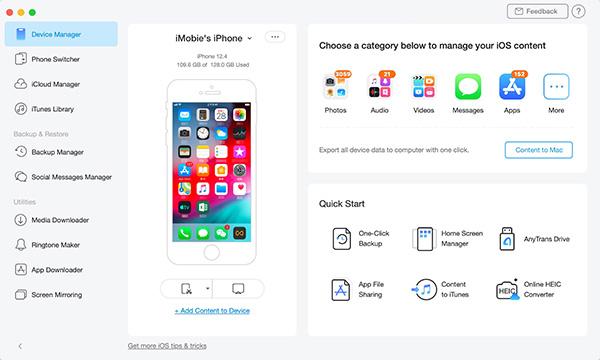 Cách chuyển danh bạ iPhone sử dụng AnyTrans