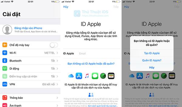 Cách tạo Apple ID không cần phần mềm