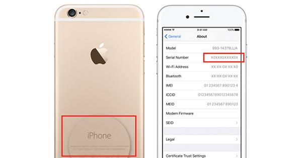 Lấy số Serial iPhone ở đâu?