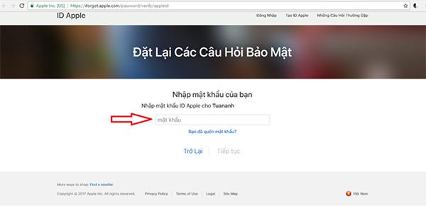 Cách reset câu hỏi bảo mật Apple ID (2)
