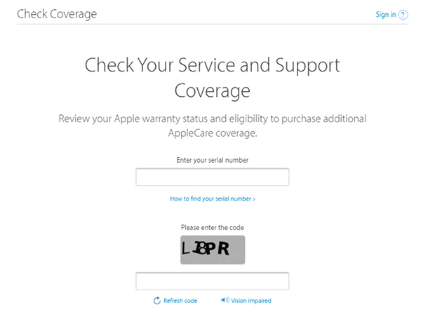 Check xuất xứ, chế độ bảo hành Airpods qua checkcoverage.apple.com