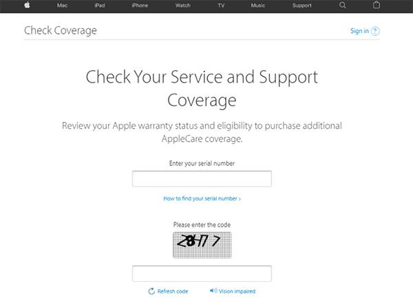 Kiểm tra ngày sản xuất iPhone trên website bảo hành của Apple