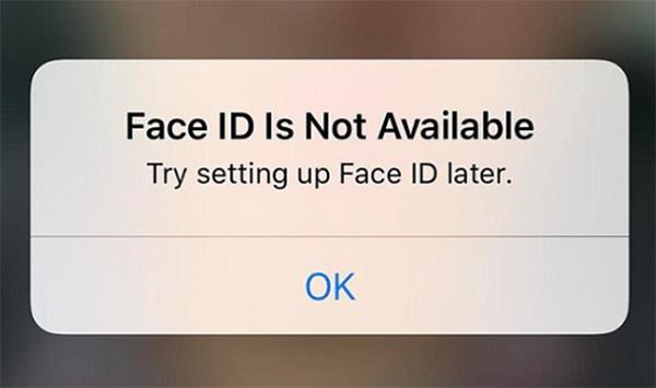 Nguyên nhân lỗi Face ID không định vị được khuôn mặt