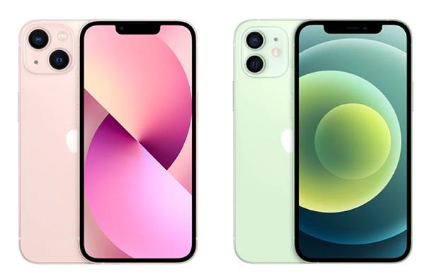Cả iPhone 13 và iPhone 12 đều được trang bị màn hình 6,1 inch.
