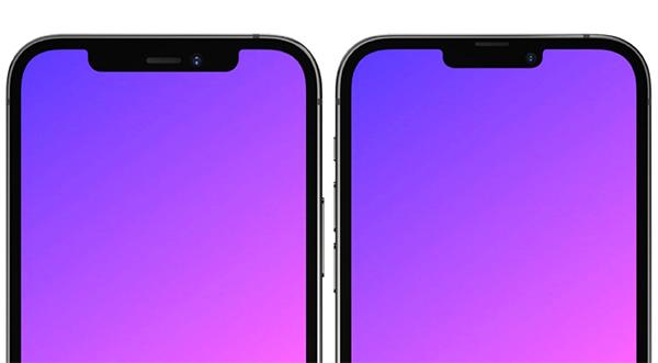 Phần notch tai thỏ trên iPhone 13 nhỏ hơn iPhone 12.