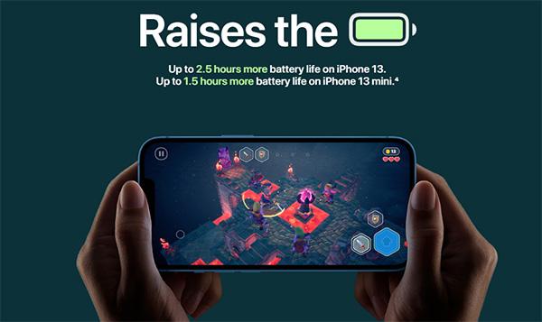 Thời lượng pin iPhone 13 cao hơn iPhone 12.